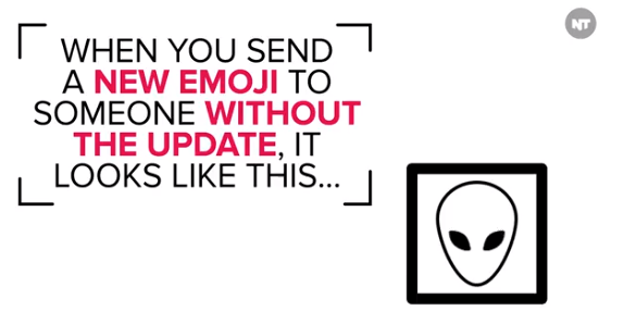 Apple Emoji Alien